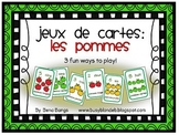 {Jeux de cartes: Les pommes!} Card games for practicing French vocabulary
