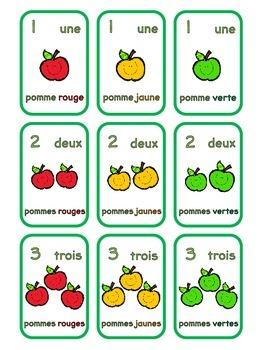 {Jeux de cartes: Les pommes!} Card games for practicing French vocabulary