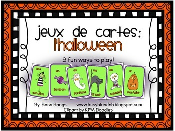 {Jeux de cartes: L'halloween!} Card games for practicing French vocabulary