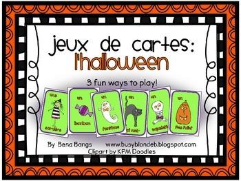 {Jeux de cartes: L'halloween!} Card games for practicing F