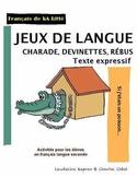 Jeux de langue: rébus, charade, devinettes
