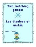 Jeux de math sur les dizaines et unités. Thème: l'hiver