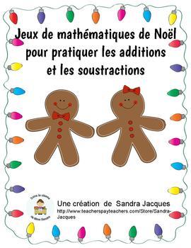 Jeux de mathématiques de Noël pour pratiquer les additions et les soustractions