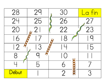Jeux de mot Serpent et Echelle - Alphabet Game Snakes and Ladders