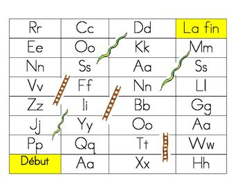 Jeux de mot Serpent et Echelle - Alphabet Game Snakes and Ladders