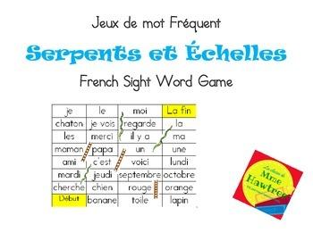 Jeux de mot Serpent et Echelle - Sight Word Game Snakes and Ladders