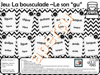 Jeux des sons « gu » et « gn »  La bousculade (French Bump it Game)