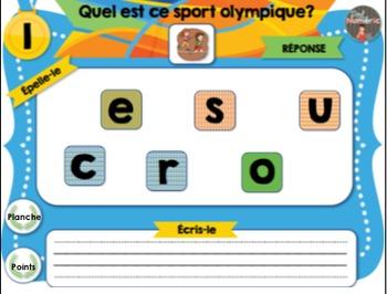 Jeux olympiques au TNI - L'ENSEMBLE COMPLET (3 activités interactives)