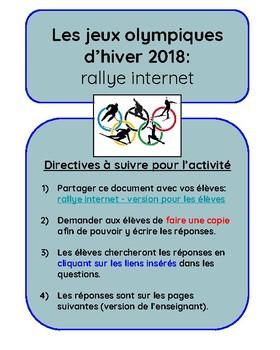 Jeux olympiques d'hiver 2018:  rallye internet
