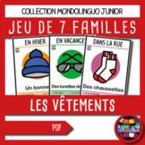 Card game to teach French/FFL/FSL: 7 familles sur les vête