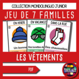 Card game to teach French/FFL/FSL: 7 familles sur les vête