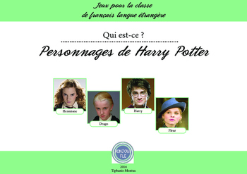 FFL/FSL - Games to learn French - Guess who? - Harry Potter