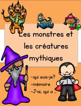 Jeux simples - Les monstres et les créatures mythiques
