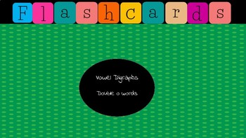 Jewel Box Flashcards/Vowel Digraphs Double o words