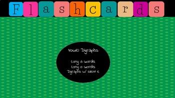 Jewel Box Flashcards/Vowel Digraphs long o a & silent e