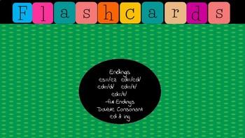 Jewel Box Flashcards/ es, ed, -ful Endings &Double Consonant ed & ing