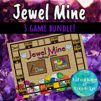 Jewel Mine Math Game Bundle - 3 Games in One!