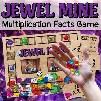 Multiplication Board Game - Jewel Mine