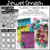 Jewel Smash Phonics and Number Fluency Mats, K-1 - Editable