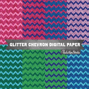 Digital Paper - Chevron Glitter