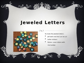 Jeweled Letters Activities