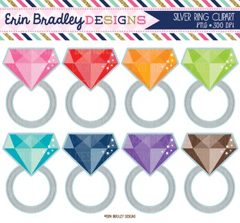 Jewelry Clipart - Silver Rings
