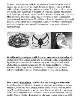 Jewelry Design Art Lesson Papers
