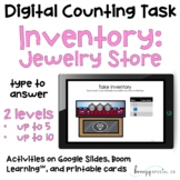 Jewelry Store Inventory - Digital Counting Practice for Sp