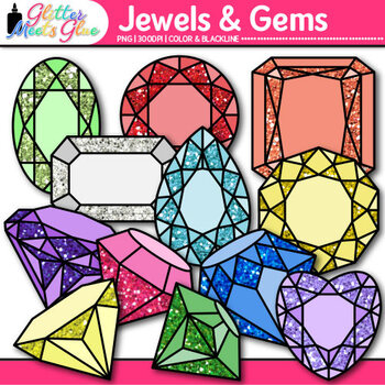 Jewels & Gems Clip Art | Great Pirate and Treasure Chest Graphics for Brag Tags