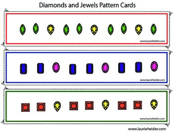 Jewels & Pattern Cards (Patterns included in this set are AB,ABC,AAB,ABB,AABB)