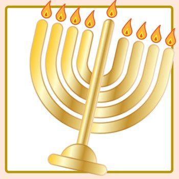 Jewish Hanukkah Menorah or Hanukiah Clip Art Set for Commercial Use
