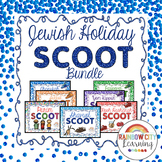 Jewish Holiday SCOOT BUNDLE task cards, posters, games, an