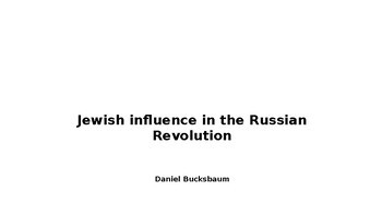 Jewish Influence in the Russian Revolution