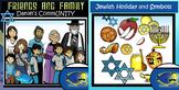 Jewish People and Holiday Objects Bundle-46 Piece Clip-Art