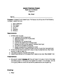 Jewish Traditions Project and Rubric