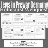 Jews in Prewar Germany Holocaust Webquest