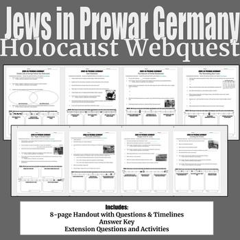 Jews in Prewar Germany Holocaust Webquest