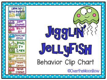 Jigglin' Jellyfish Ocean Themed Behavior Clip Chart