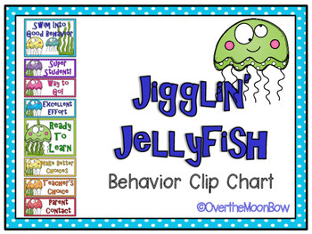 Jigglin' Jellyfish Ocean Themed Behavior Clip Chart