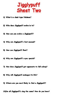 Jigglypuff Reading Comprehension