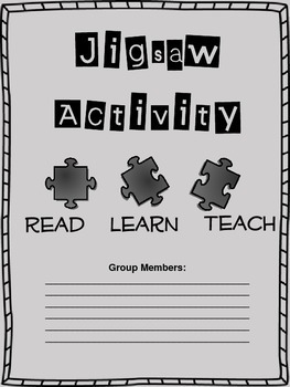Jigsaw Activity- Framework for Presentation Project