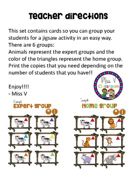 Jigsaw Activity Grouping Cards