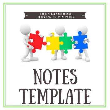 Jigsaw Activity Template & Worksheets | Teachers Pay Teachers