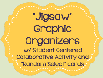 Jigsaw ~Cooperative Learning~Graphic Organizers and Activity