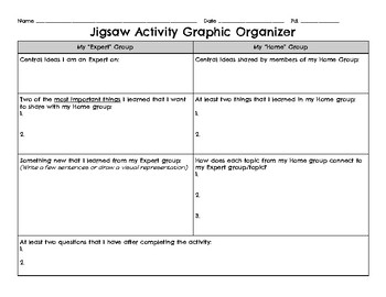 jigsaw graphic organizer by gabrielle copen teachers pay teachers. Black Bedroom Furniture Sets. Home Design Ideas