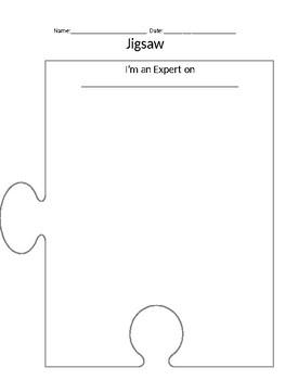 Jigsaw Graphic Organizer & Worksheets | Teachers Pay Teachers