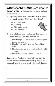 Jigsaw Jones BIG BUNDLE (James Preller) 10 Novel Studies : Books #1-10