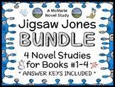 Jigsaw Jones BUNDLE (James Preller) 4 Novel Studies : Books #1-4  (124 pages)