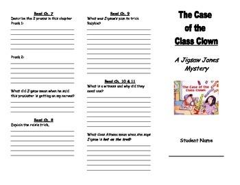 Jigsaw Jones: Case of the Class Clown