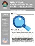 Jigsaw Jones Mystery: The Case of the Missing Hamster Novel Study